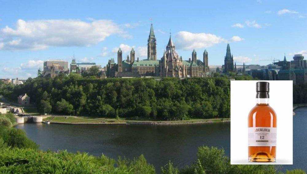 Uproar when Canadian MPs selected a Speyside whisky over their local brands.