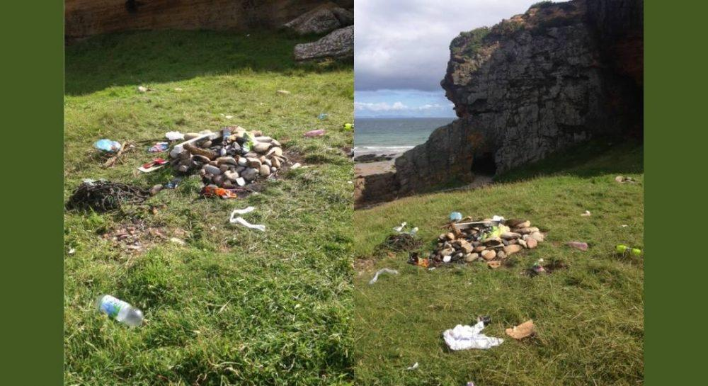 Picnickers left their rubbish behind at Cove Bay.