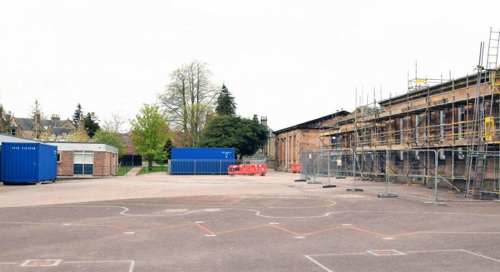 East End building works are currently under way.