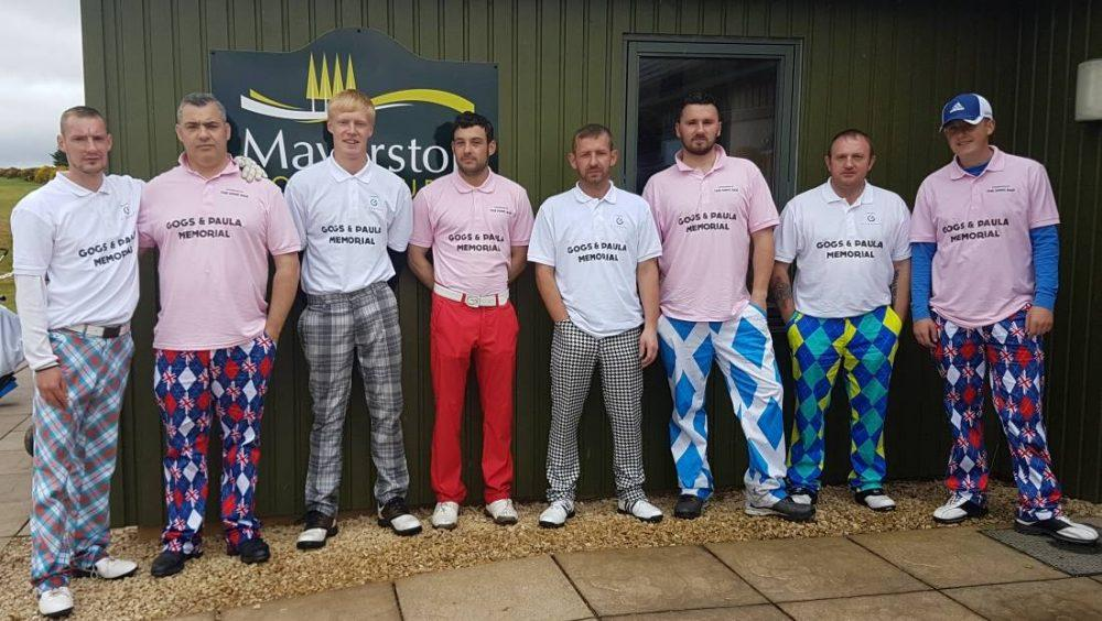 Eight golfers have raised over £2000 so far - with more to come.