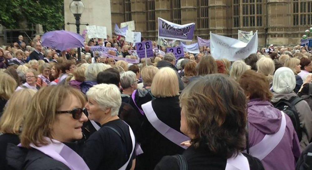 Campaigners in Westminster this week (Unison)