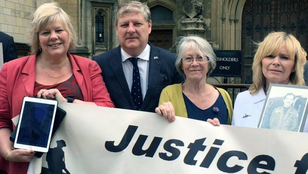 War widows met with Angus Robertson at Westminster.