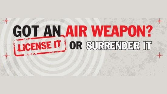 Air Weapons surrender scheme ends a week on Sunday