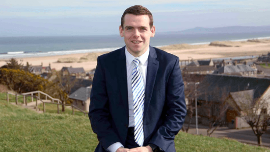 Douglas Ross - challenged minister to come to Moray.