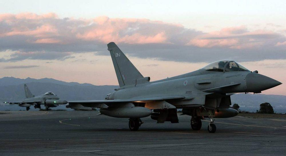 Typhoons continue to operate from their Cyprus base.