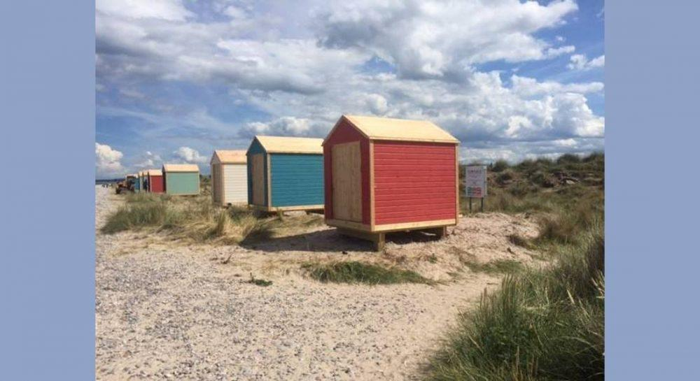 First batch of controversial beach huts have been completed.