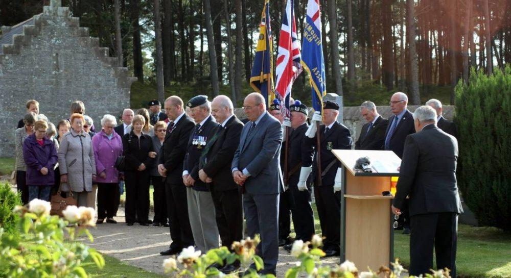 Community, council and ex-service representatives paid tribute at memorial service.