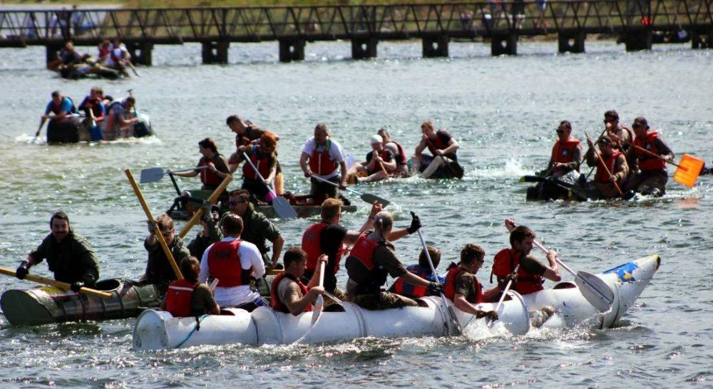 Raft Racers should expect choppy waters again on Sunday.