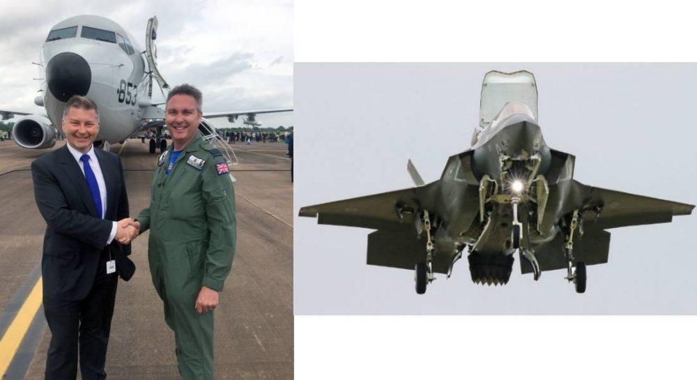RAF Crew flew a Moray-bound P8-A at RIAT - where the star was the F35 Lightning, which is not to be based at Lossiemouth.