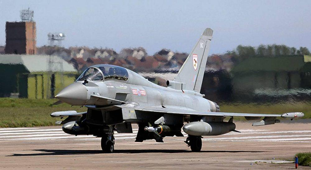 Lossiemouth Typhoon called in to help stricken Cessna.
