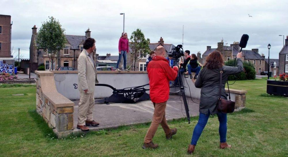 Creative Visions crew have been filming in and around Lossiemouth.