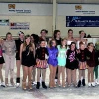 The ICESTAR performers at the Moray Leisure rink last weekend.
