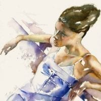 'Woman in Purple Dress' - will feature in Findhorn exhibition.