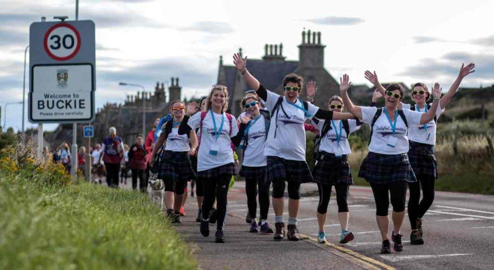 Kiltwalk 2016 set out from Buckie on Saturday. (Pic: Elaine Livingstone)