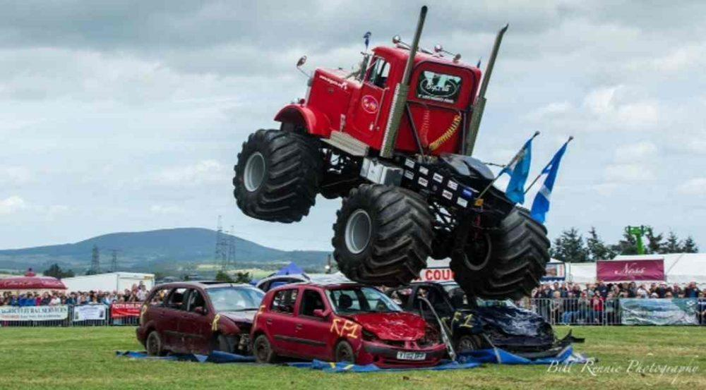 Monster Trucks starred in the show on Sunday. (Pic: Bill Rennie)