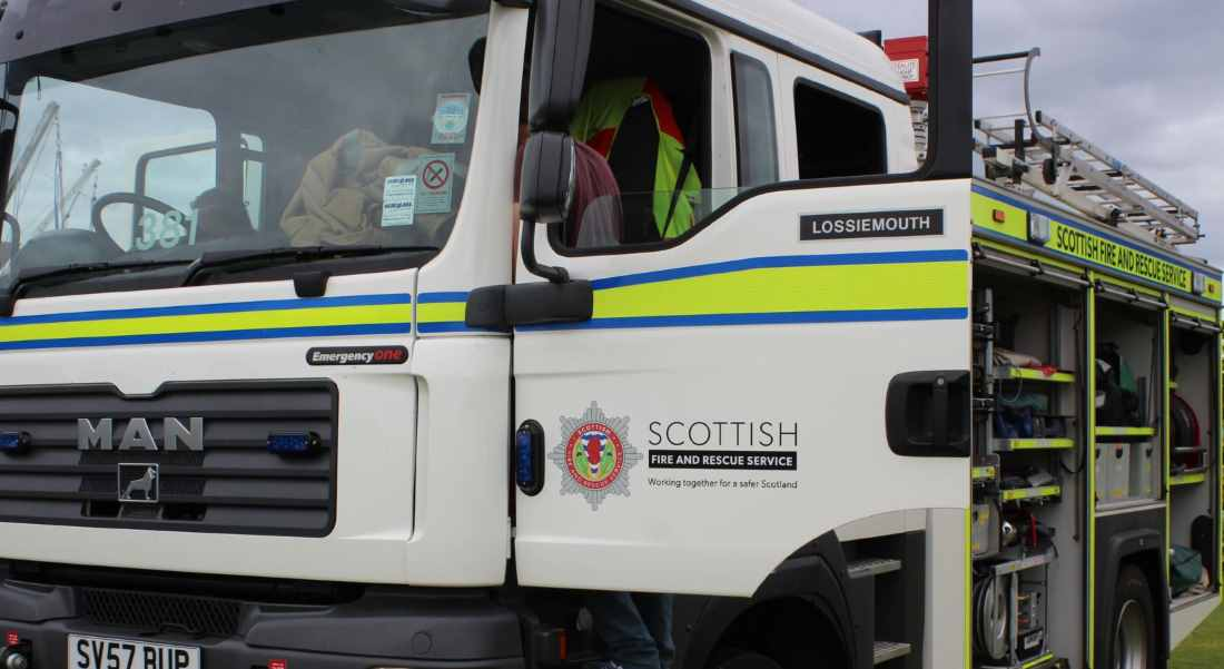 Crews from Lossiemouth, Elgin and Buckie called to blaze in Burghead.
