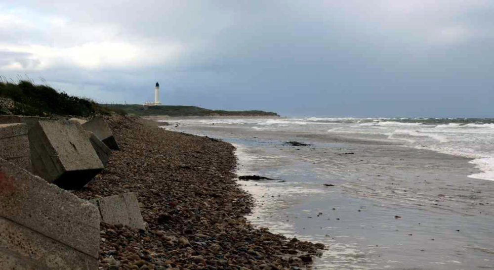 Loose sewage pipe again causing issues on Lossie's East Beach.