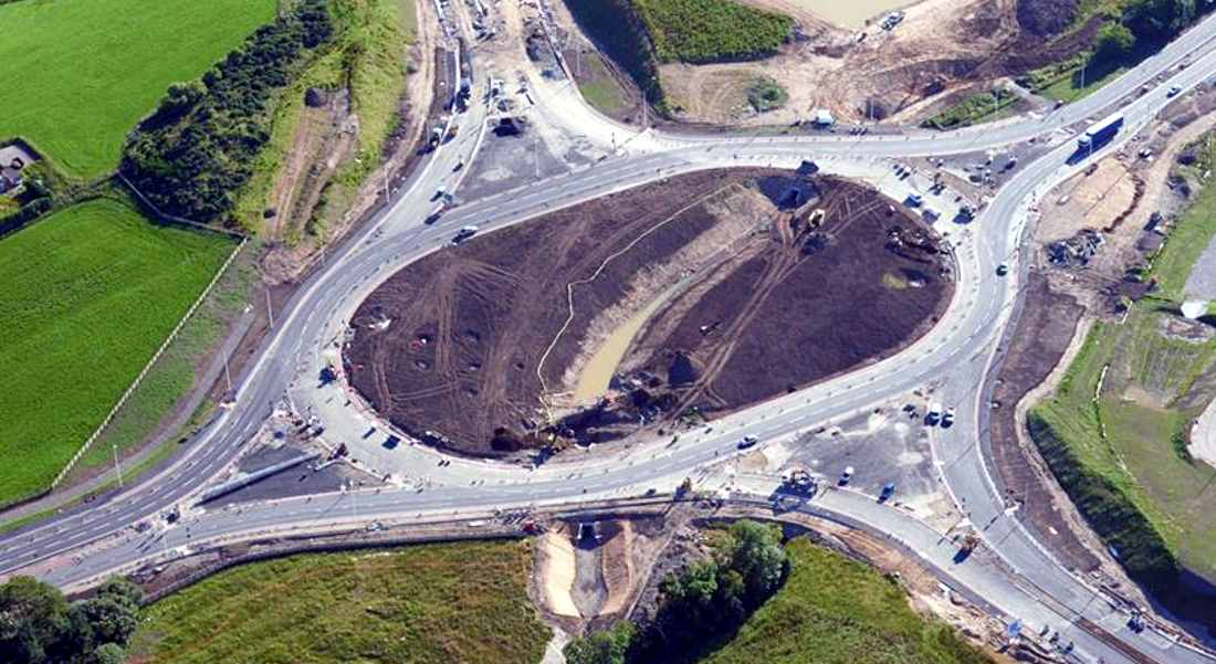 New roundabout will greatly ease traffic aiming for Aberdeen and the Airport.