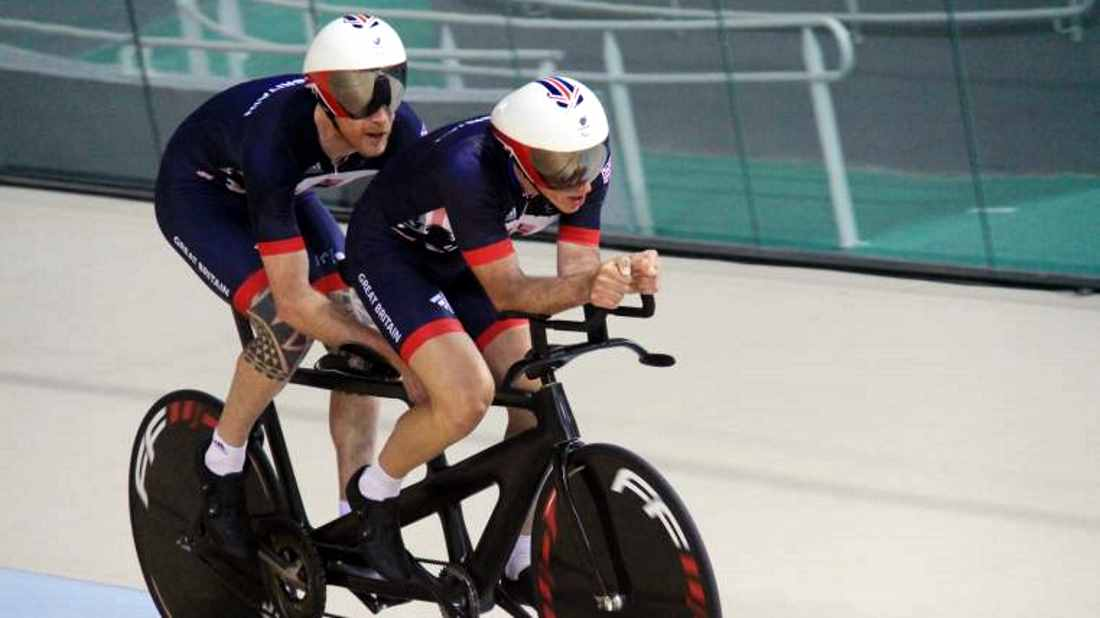 Steve and Adam on the Rio gold trail yesterday (pic: British Cycling)