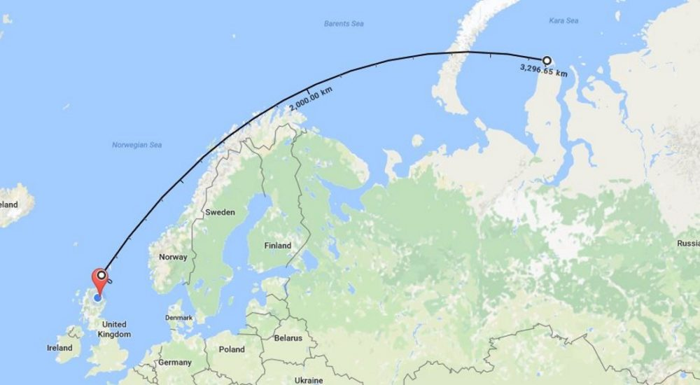 From Russia with Love - bottle will be returned after its remarkable 16-year and 2000-mile voyage.