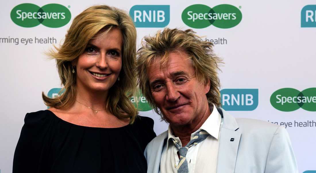 Rod Stewart and Penny Lancaster at the House of Lords for the launch of Specsavers and the RNIB's Transforming Eye Health campaign.