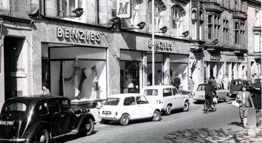 Benzie's store in 1960.