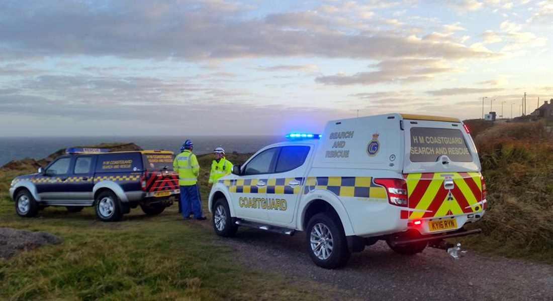 Coastguard and police helicopter were involved in search for Aberlour man.