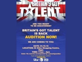 Permalink to: Britain's Got Talent team looking for best that Moray can offer