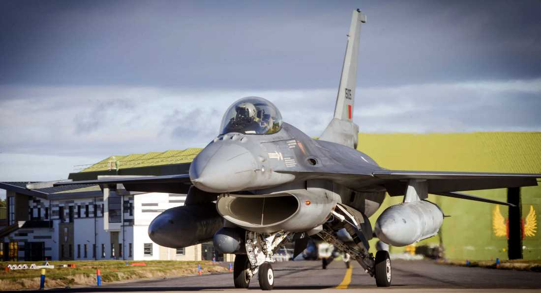 F16 at Lossiemouth during Joint Warrior.