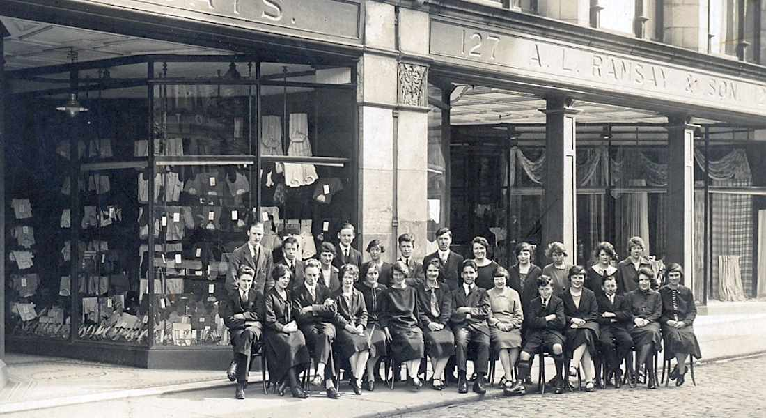Ramsay's staff line up in 1935.