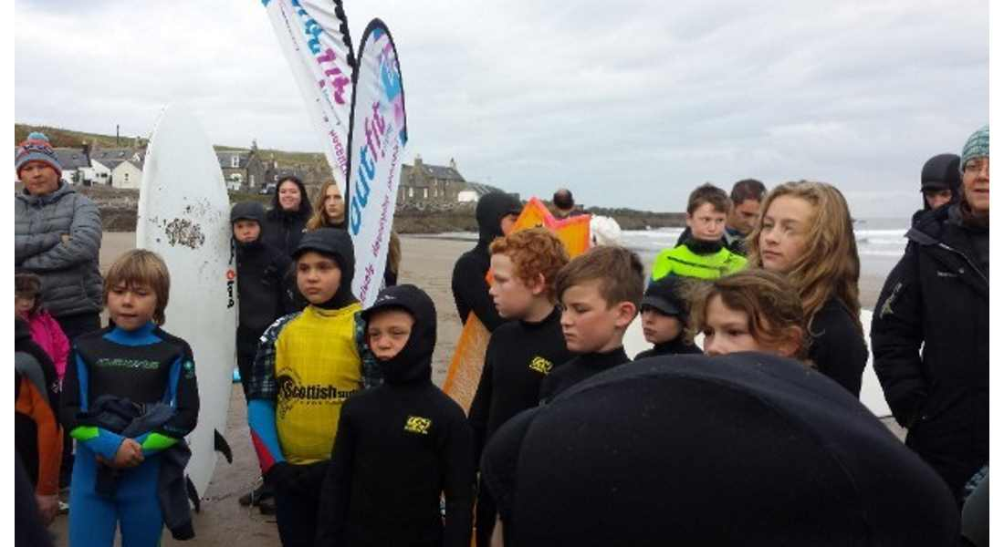 Young surfers got competitive for the first time.