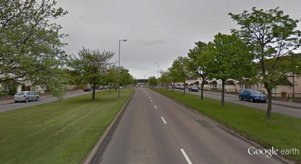 Ten year old girl was seriously injured on the A941 in Elgin.