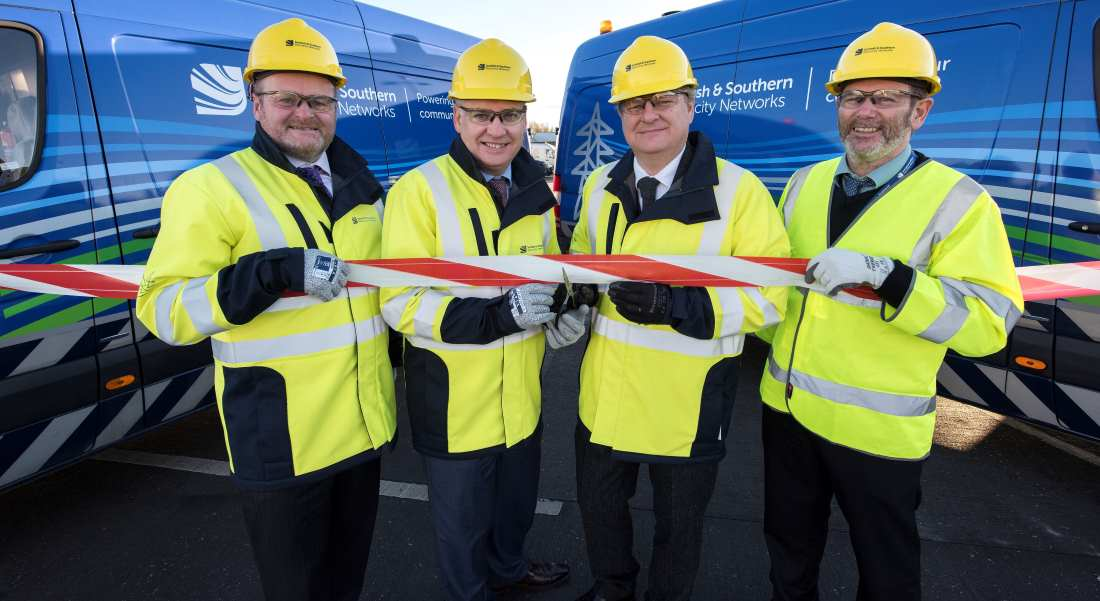 MP and MSP formally opened the new depot.