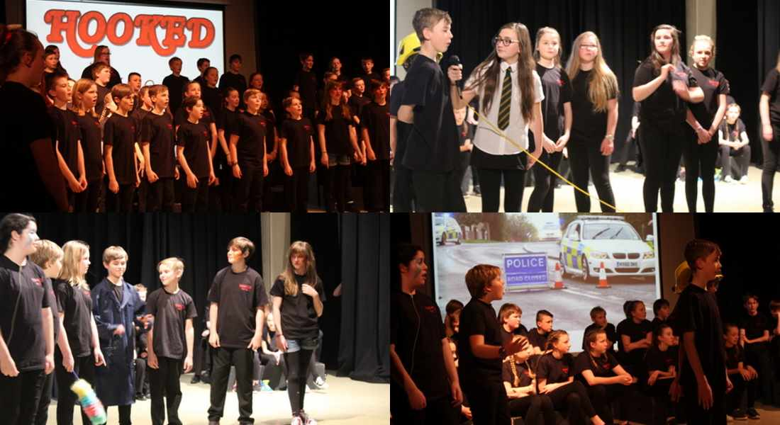 'Hooked' was performed by Milne's High School pupils.