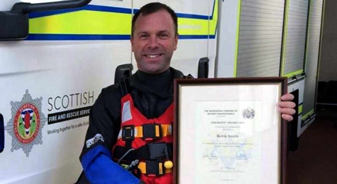 Bravery of Kevin Smith used to underline importance of retained firefighters.