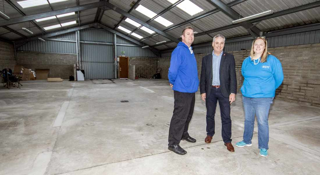 David and Lara met with Richard Lochhead on the site they aim to use as a new Rum Distillery.