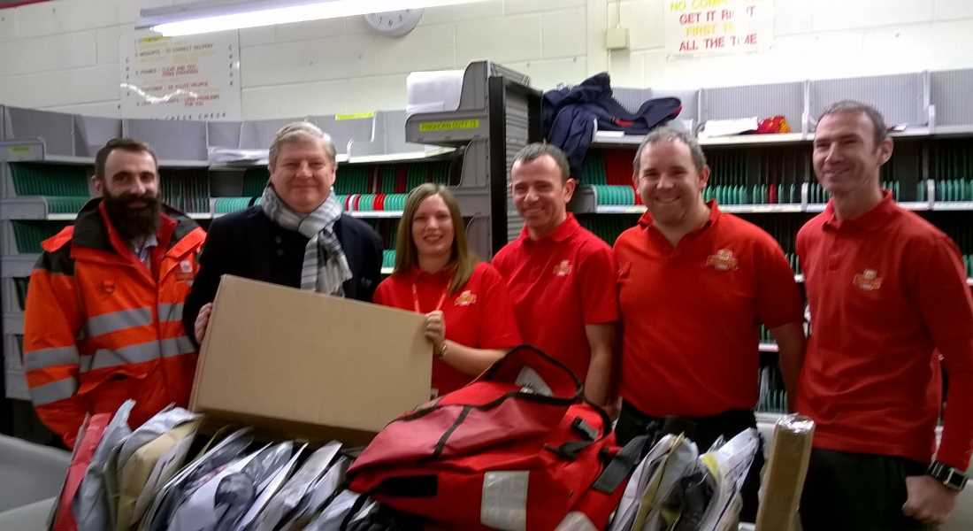 Royal Mail staff in Forres with Angus Robertson MP.