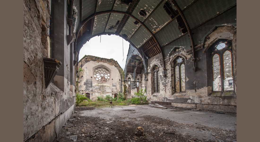 Currently derelict, plans are being laid to restore the church designed by Elgin brothers