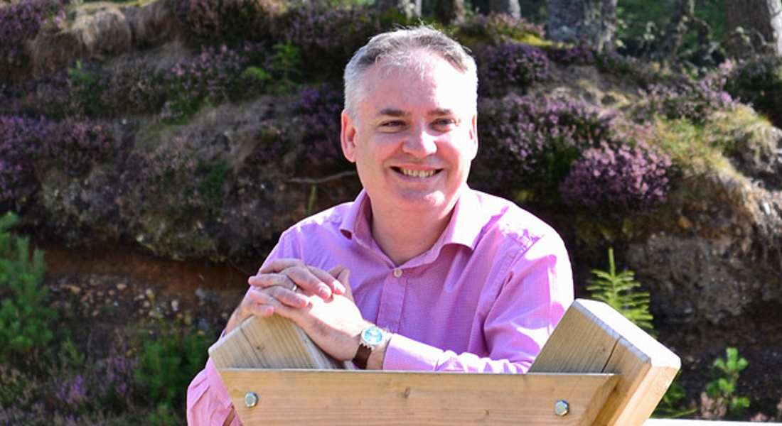 Richard Lochhead - called in for chat with Trade Unionists.