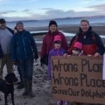Hundreds turn out to protest environmental threat to Moray Firth