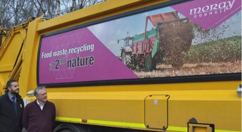 Side panels will urge greater effort in recycling Moray's food waste.