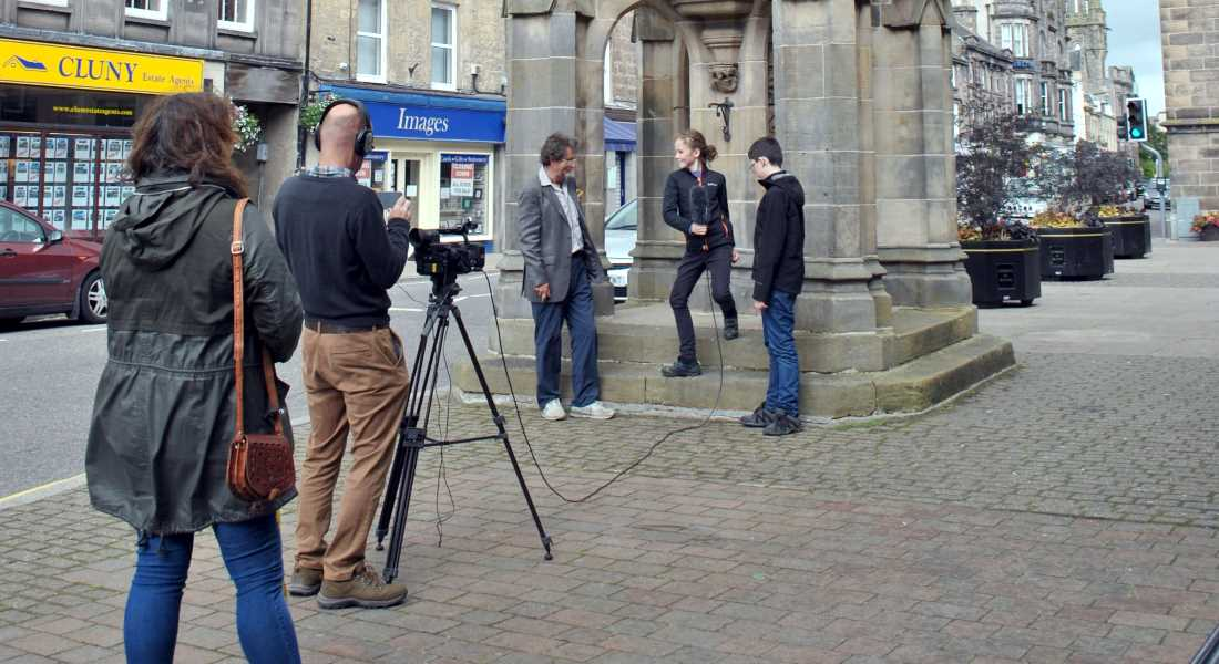 On location - year long production of Forres film will be shown for first time this evening.