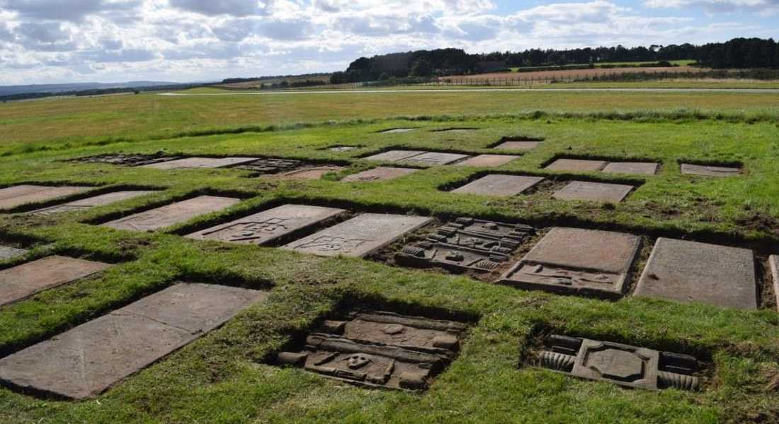 Graves on the Moray base are 300 years old.