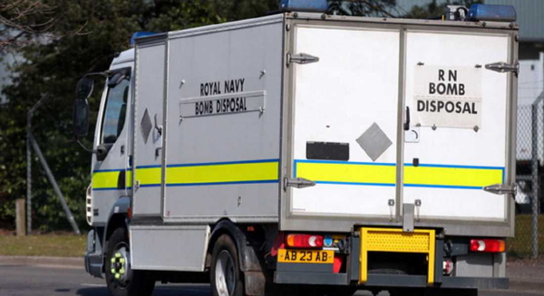 Bomb Disposal unit called in from Faslane.