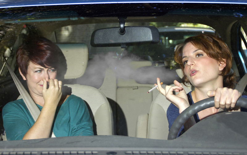 In-car smoking is illegal from today if vehicle is carrying anyone under the age of 18.