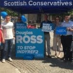 Former Scottish Tory leader arrives to support Ross campaign