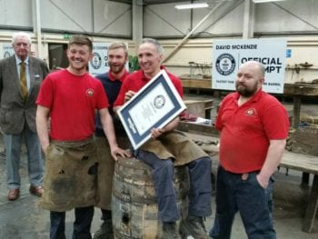 Permalink to: Barrel of fun on Speyside as a new World Record is recorded