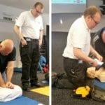 Security staff and Street Pastors train on life-saving kit