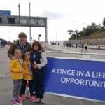 Moray family walk the bridge to draw attention to Garmouth bid