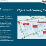 Rail users and motorists reminded of Elgin closures